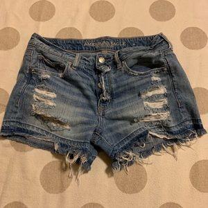 American Eagle Tomgirl Midi Cutoff Jean Shorts